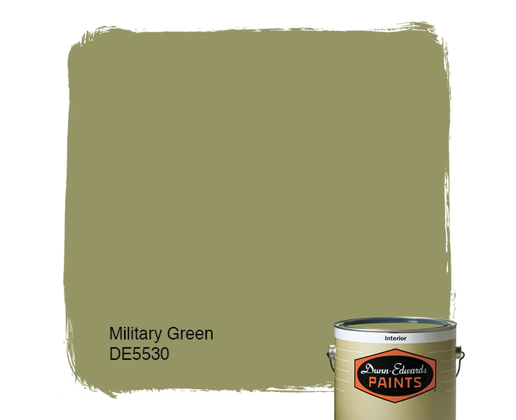 Green paint colors Warm Southern Living Military Green de5530 Dunnedwards Paints