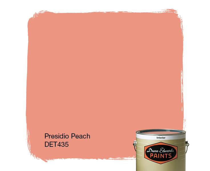 peach paint colorsPresidio Peach DET435  DunnEdwards Paints