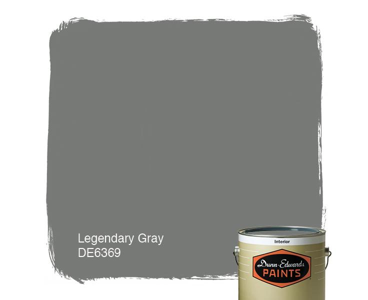 Legendary Gray De6369 Paint Color 787976 Dunn Edwards Paints
