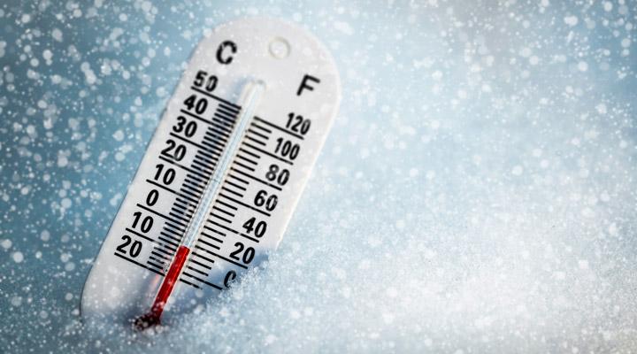 Termometer below freezing
