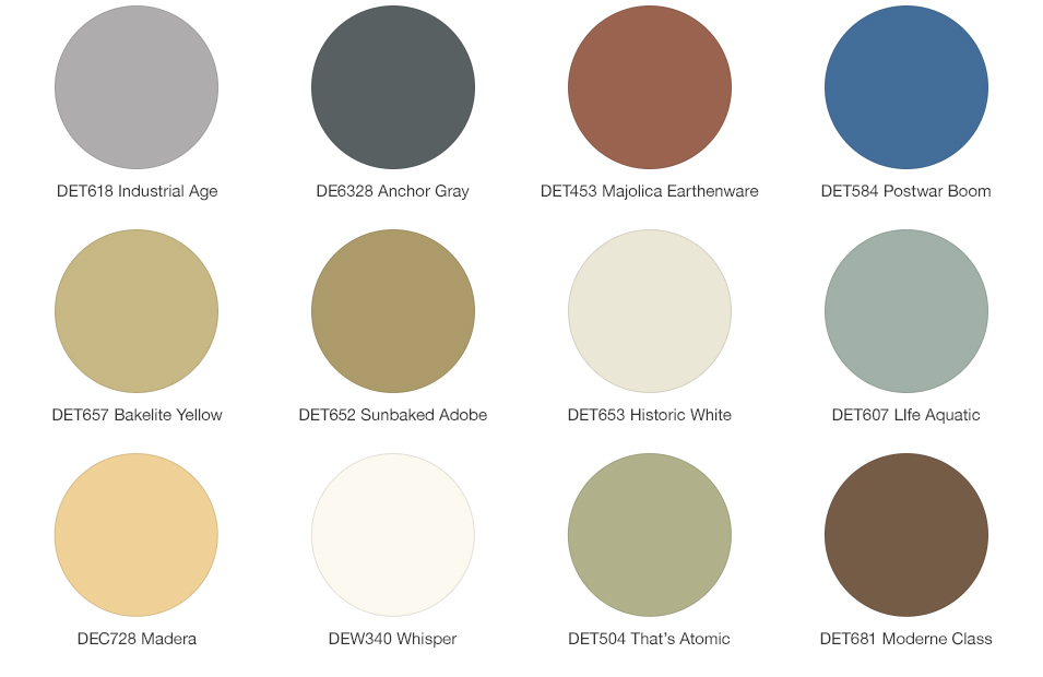 Exterior Color Palettes To Inspire on mid century color palette