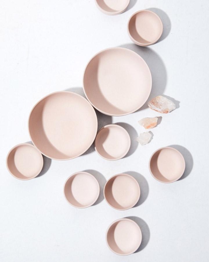 pale pink bowls