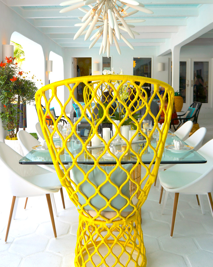 Bright Accent Villa Go Lightly Yellow Dining Chair