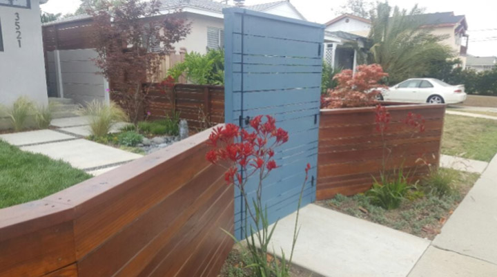 Duration Painting Blue Fence
