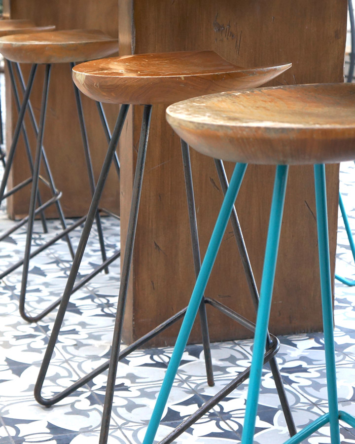 Bright Accent Teal Stool
