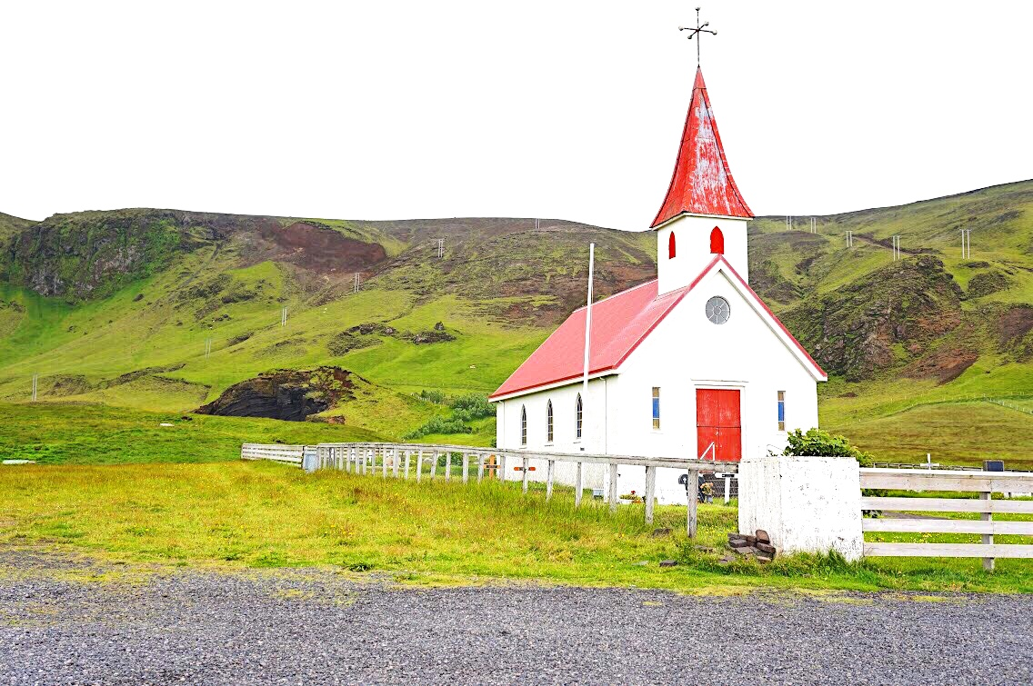 Red and White Church Countryside Colors
