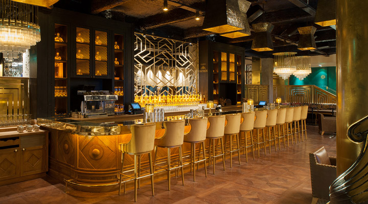 luxury golden bar and restaurant designs Manko Laura Gonzalez