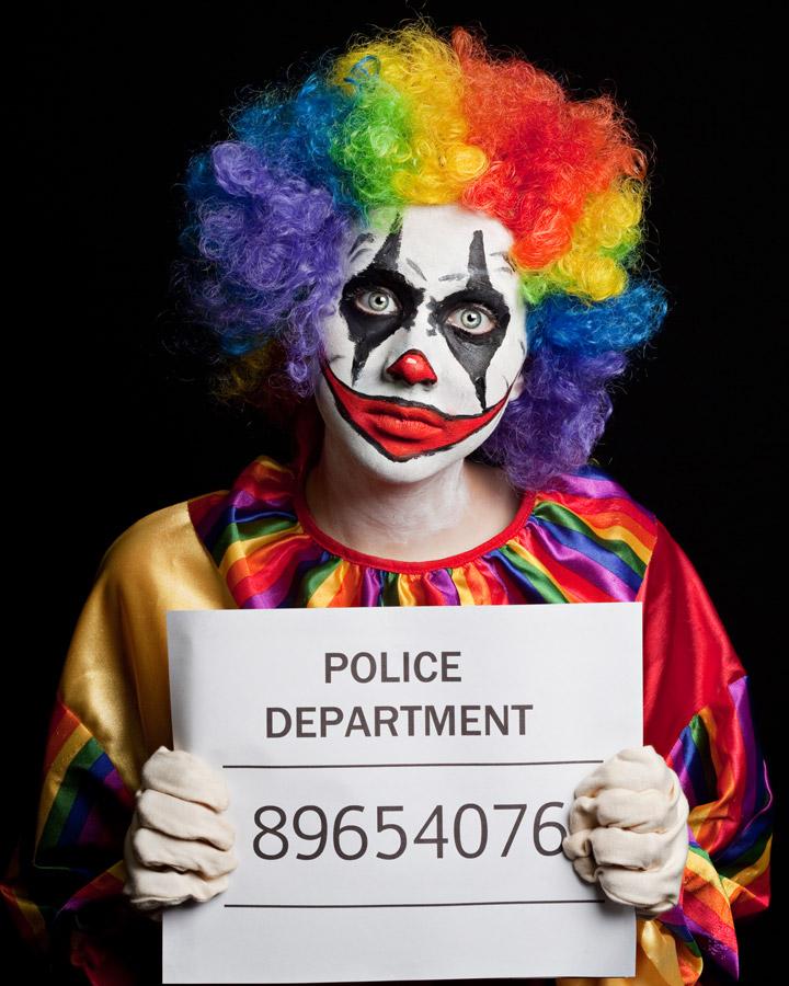 Colored clown