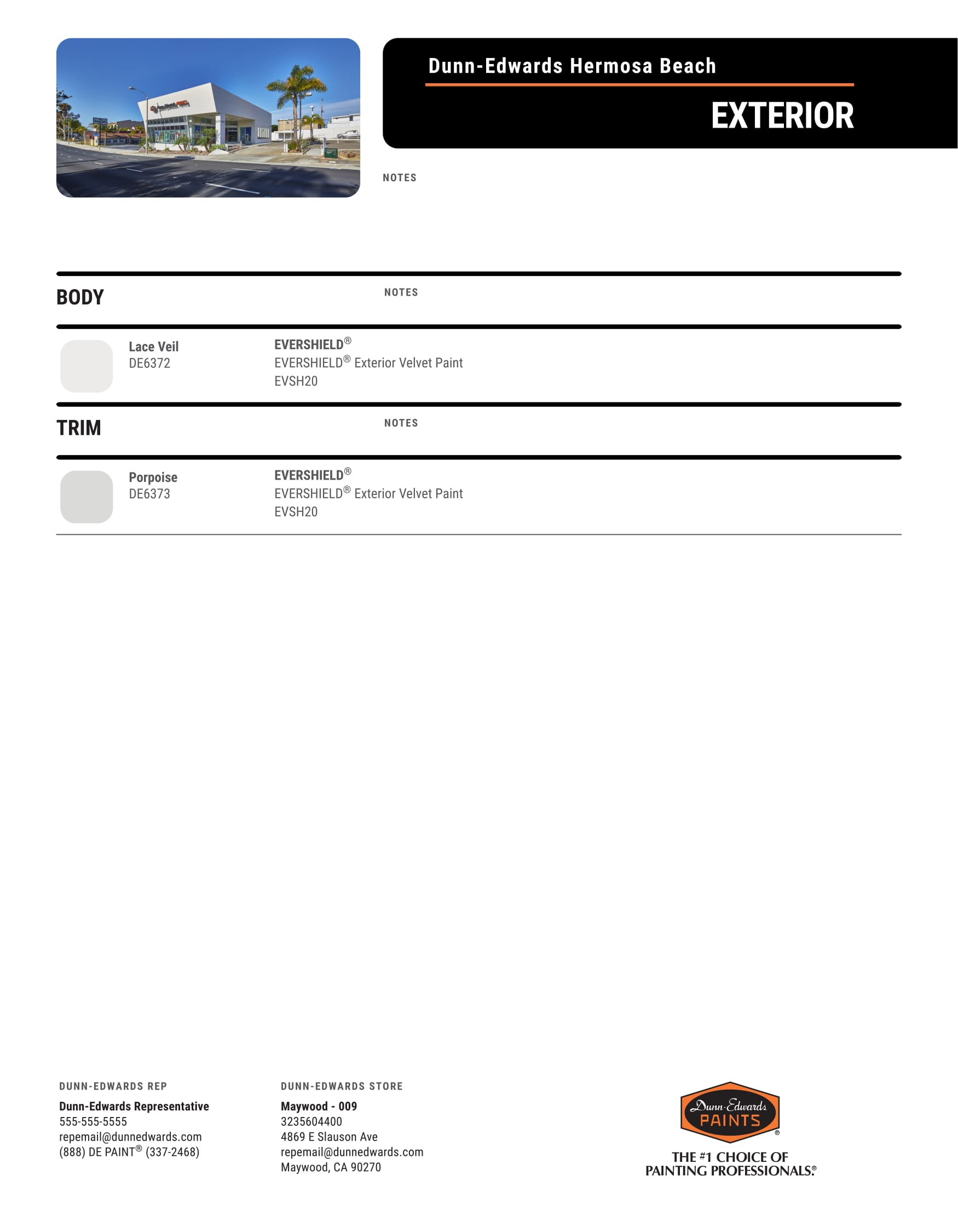 job record Dunn Edwards Hermosa Beach 2