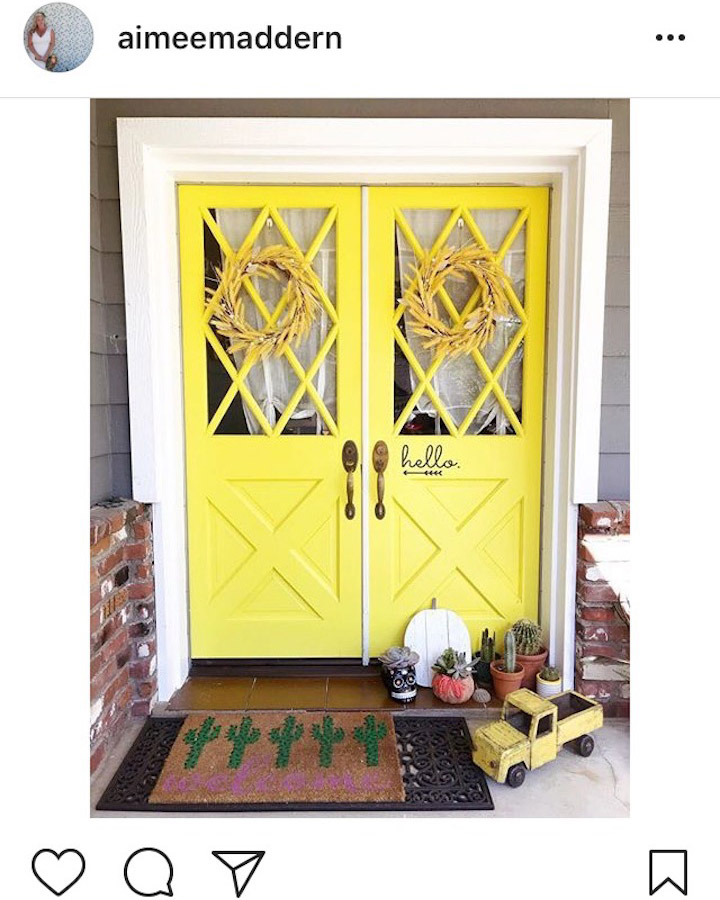 Yellow entrance doors