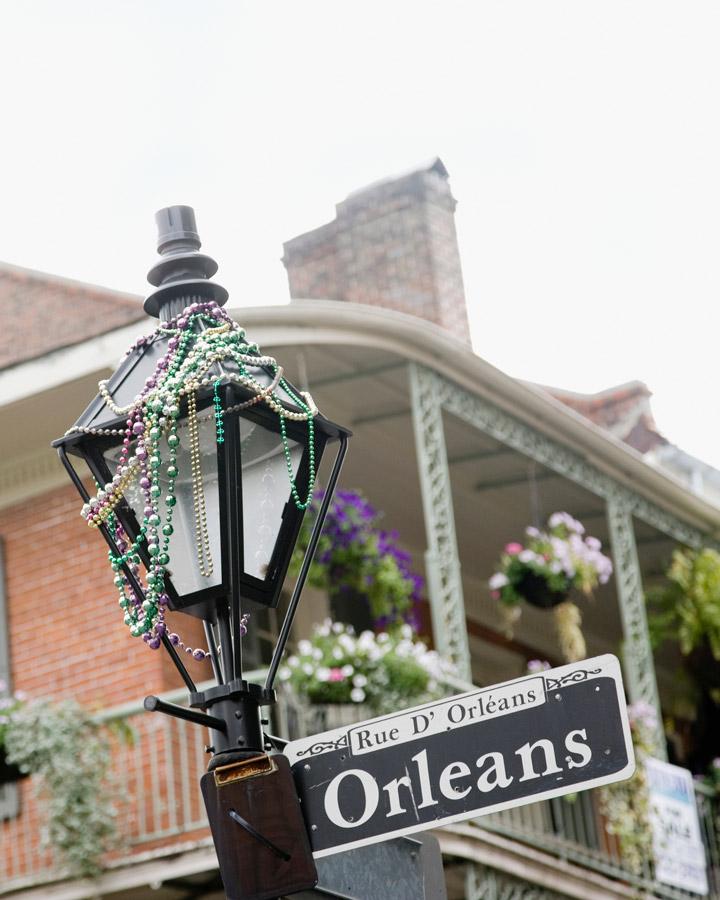 Street lamp and beads