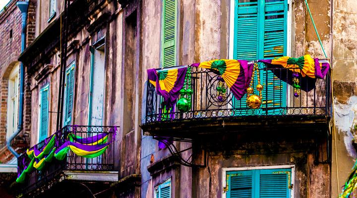 Decoration for Mardi Gras
