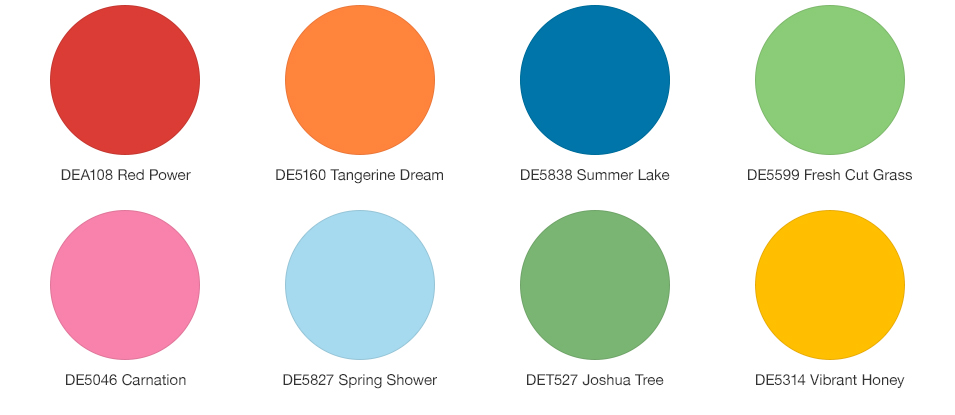 Spring Forward 2018 Trending Color Palettes