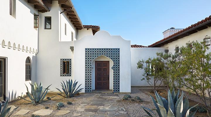 Spanish-Mediterranean home exterior