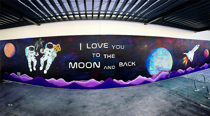 I love you to the moon and back painting