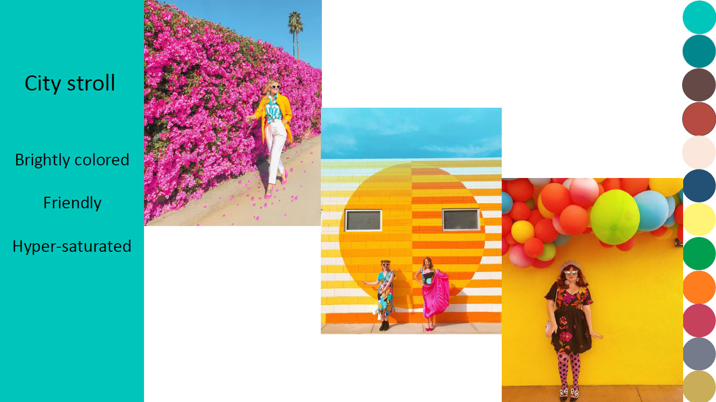 Brightly colored, Friendly, Hyper-saturated