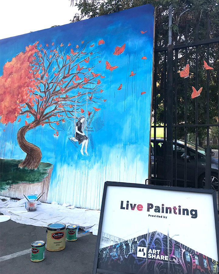 Live painting in progress 1