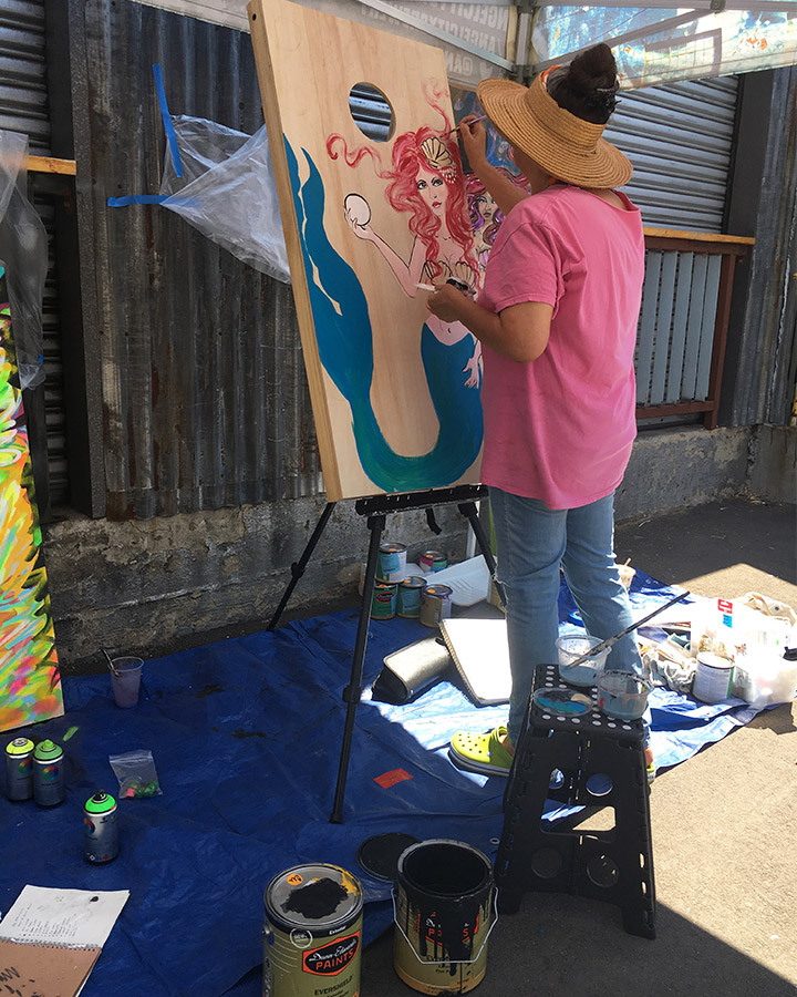 Live painting in progress 3