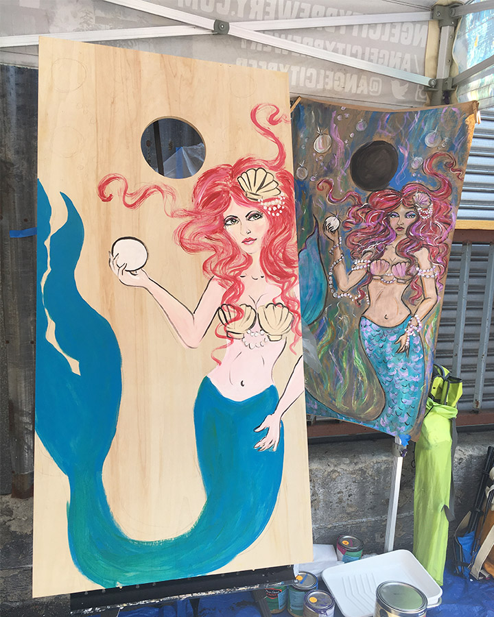 Live painting in progress 4