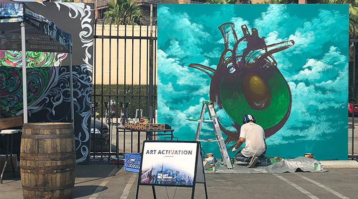 Painting at Avocado Fest 2