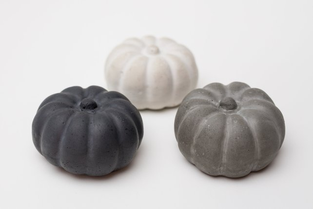 Mini Concrete pumpkins