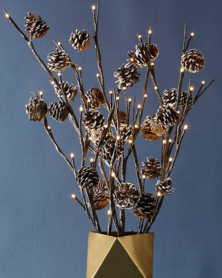 DECORATIVE PINECONE BRANCH