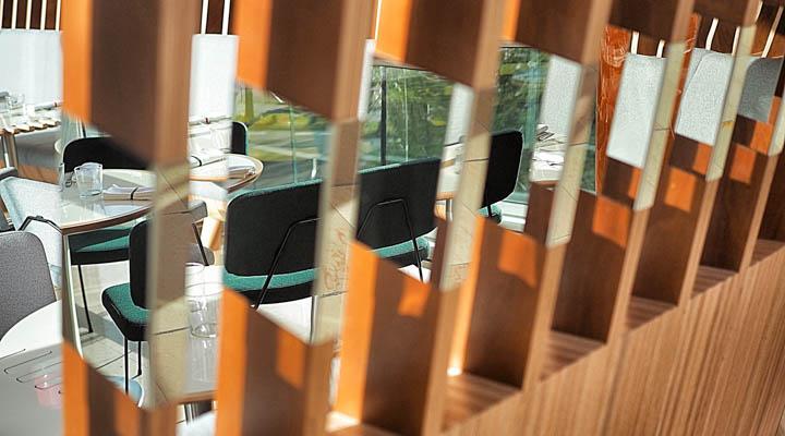 reflective panels in slats