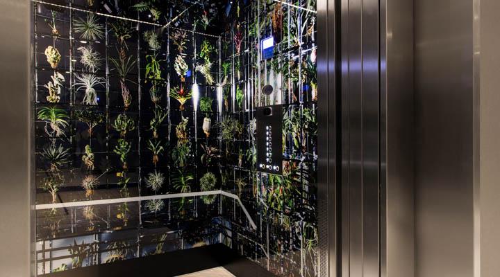 Interior of elevator