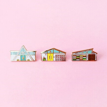 Enamel pins for Dunn-Edwards by Katie Thierjung