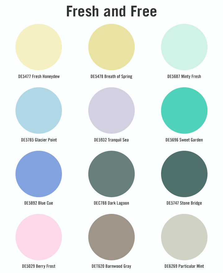 DE SpecsSpaces Swatches Fresh and Free