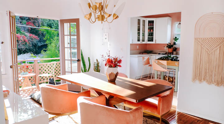 kitchen inspired by sunset colors