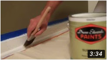 How to Paint Moldings and Trim video on Youtube