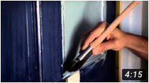How to Paint a Front Door video on Youtube