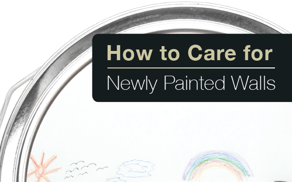 How to care for your newly painted walls