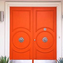 Small orange door