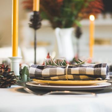 Regular gingham at the table