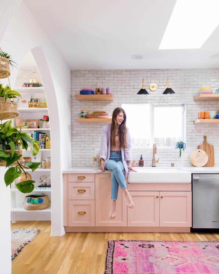 Kelly Pereira Design Studio Kitchen Inspirations: Surprise! Studio DIY Founder Kelly Mindell Painted Her