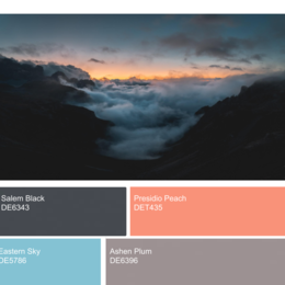 Small mountains   winter palettes
